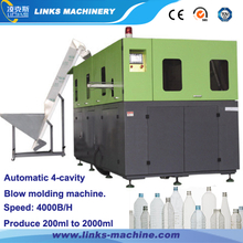 4000BPH 0.1-2L 4-Cavity Automatic Bottle Blow Moulding Machine