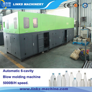 6000BPH 0.1-2L 6-Cavity Automatic Bottle Blow Moulding Machine